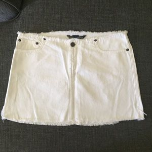Abercrombie & Fitch White Jean Skirt